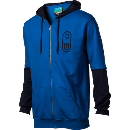 Snowboard Zip up the Airblaster Balboner Full-Zip Hooded Sweatshirt before you pay a visit to the local gentlemen 1/2s club. After you inevitably pop wood, tie your sweatshirt around your waist to avoid awkward stares as you wait in line for the men 1/2s room. - $48.97