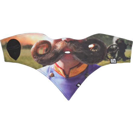 The Airhole Stache Series Maskbecause your face didn't look quite creepy enough on its own. Close, but not quite. - $14.98