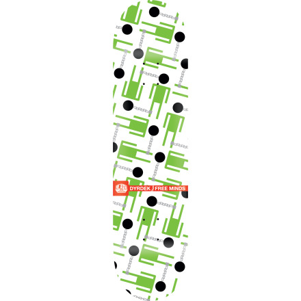 Skateboard The Alien Workshop Dyrdek Free Minds Skate Deck encourages you to think twice before 'focusing'. Features classic 7-ply maple construction and a versatile shape good for everything from street sessions to backyard minis. - $35.96