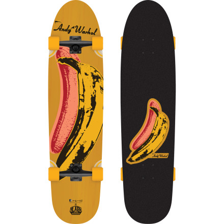 Skateboard Show off your cultured side while you're skating down the street on the Alien Workshop Banana Complete Longboard. Andy Warhol's iconic pop art is featured on the base and top of the deck so you don't have to do kickflips in order to display your postmodern art knowledge to the world. - $87.96