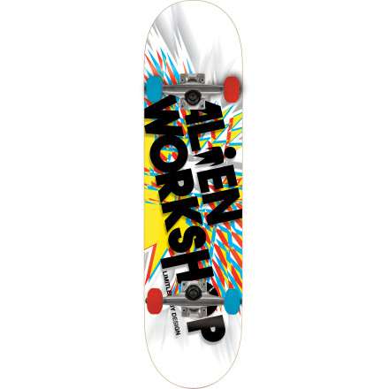 Skateboard Waste no time hitting the streets with the Alien Workshop Dynamo Complete Skateboard. It comes full assembled and ready to rip with a poppy seven-ply maple deck that withstands abuse and a medium concave that works for everything from shredding bowls to skating street. - $79.96
