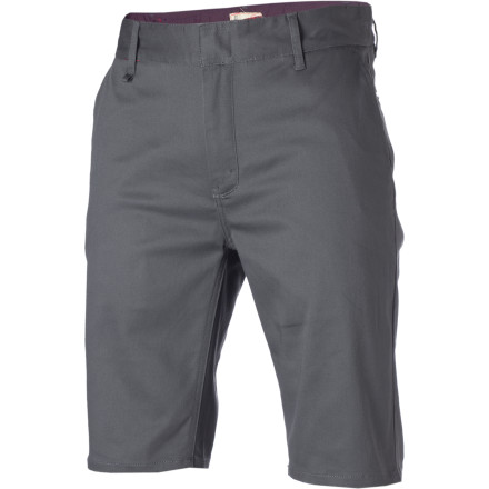 The Altamont Davis Slim Short features a pre-worn, stretchy cotton twill fabric for comfort and mobility bordering on the ridiculous. The modern cut still sports a 21.5-inch outseam so you can rock the slim style you want without exposing your pasty upper thighs to the rest of the world. - $29.97