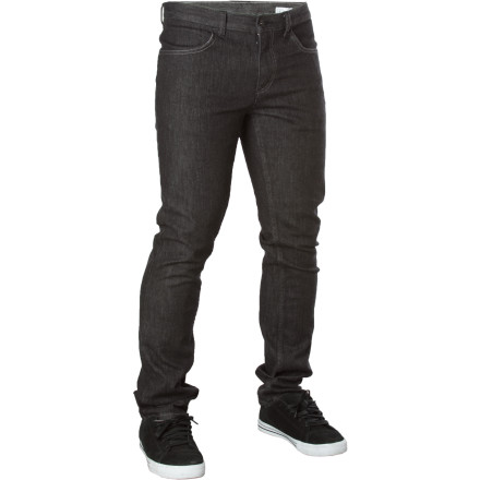 The Ambiguous Men's Low Card Gripper Denim Pant has a straight fit for guys who like a fitted look without going for the full skinny-jean. - $42.46