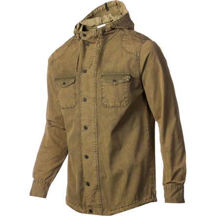 For a classic look that works for any occasion, check out the vintage-inspired Ambiguous Tucker Men's Jacket. It has a distressed cotton canvas shell that lends a worn-in look and a button front that adds a touch of class. - $38.37