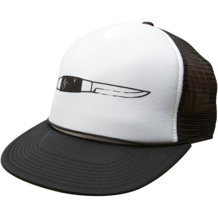 Tired of your flowing skull-sweat ruining your romantic chances Pick up the breezy Analog Signature Trucker Hat and keep a cool head. Literally. - $11.97
