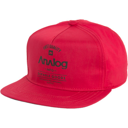 This Analog snap back hat is only for those who prefer high-caliber headwear. Do you see what we did there We could keep going all day. - $10.98