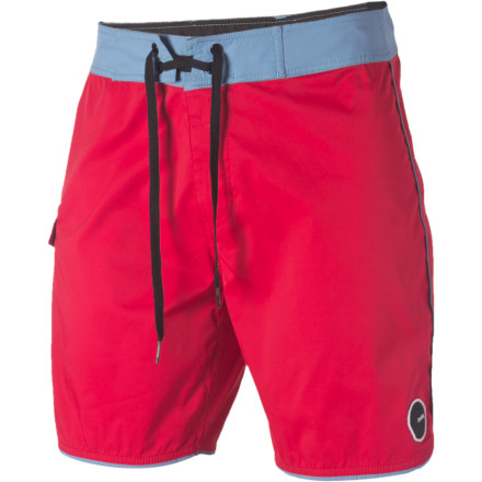 Surf You don't have to shop at consignment stores to put some retro style on display, you simply have to pull on the short-ish Analog Men's Striker 18in Board Short, which just happens to pair perfectly with aviator shades and straw hat. - $33.57