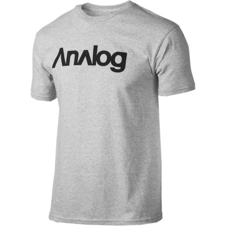 Entertainment While you see nothing wrong with spending the summer shirtless and working on your nipple-tan, the good folks at your neighborhood Kwik-E-Mart disagree. Pull on the Analog Analogo F10 T-Shirt to pull yourself in line with their establishments dress code. - $14.27
