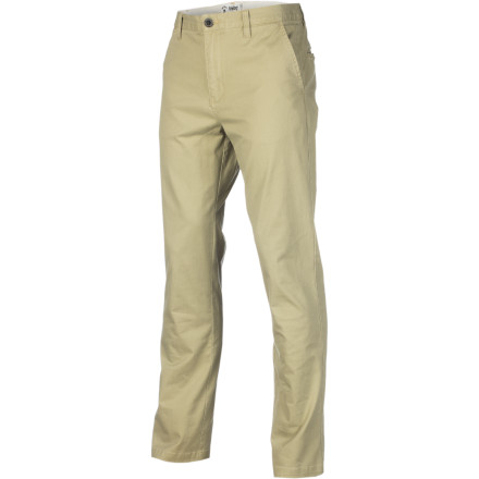 The last few years have taken you from your mom's basement to a deluxe apartment with a drop-dead-gorgeous girlfriend. You couldn't have done it without the slim Analog AG Chino Pant, which gave you that air of confidence that just seems to make good things happen. - $58.00