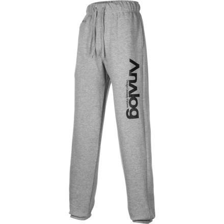 After a couple days killing yourself on the mountain, kick back for the evening in the Analog Company pants. These chill fleece sweatpants give your legs a bit of rest so you can put then through the wringer again tomorrow. - $28.17