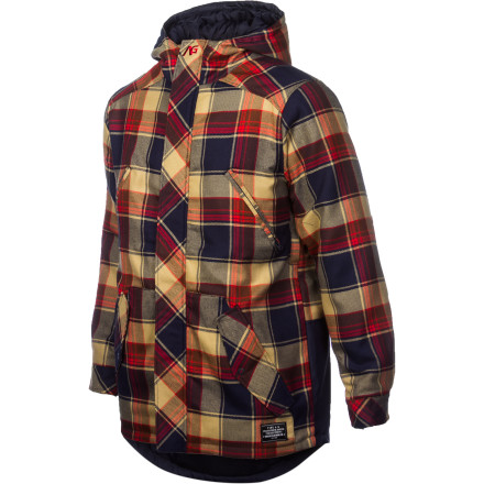 Snowboard The Analog Citizen ATF Flannel Jacket has a laid-back, casual look that is great for walking to the neighborhood dive for beer. But, this jacket also has enough weather-blocking tech and insulation to keep you warm if you decide to wear it snowboarding on a bluebird day. - $77.97