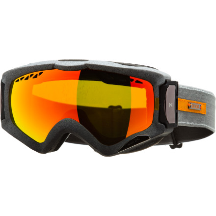 Snowboard Whether you go above and beyond for untracked snow or you have to hit the resort a few times a week in snow season, the Anon Realm Goggle has your name written all over it. Thanks to its Removable Air Mesh venting system, this goggle regulates temperature and resists fogging while you hike, tour, or shred nonstop top-to-bottom lines. Plus, its tough-as-Khan lens stands up to the worst abuse you can throw its way. - $83.97