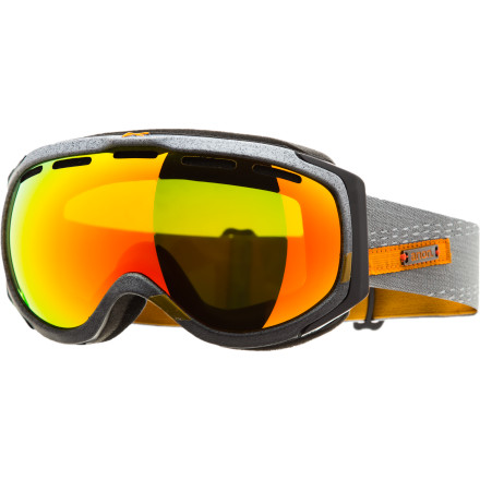 Snowboard The Anon Hawkeye Goggle gives you the penthouse mountain view you thought you would have to spend hundreds for. Wrap-around spherical lens guarantees you don't miss a single hit in the trees, while the Hawkeye's Full Perimeter Channel venting ensures that no matter how hard and hot you're charging, your lenses are as clear as a bluebird day. - $62.97
