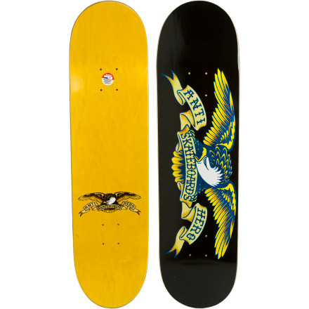 Skateboard The Anti-Hero Classic Eagle Skate Deck is tougher than nails and pretty much the top-rank, five-star general of skateboards. If you're into namby-pamby boards with cheap wood, then look elsewhere. - $49.95