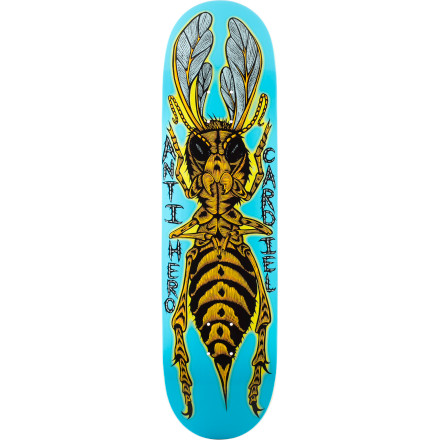 Skateboard The insects we share this planet with are mutating. In addition to become bigger and faster, their brains and dexterity are also increasing. The Anti-Hero Antisect Skate Deck marks the beginning of what could be an apocalypse by pestilence. - $44.96