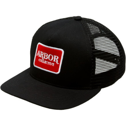 Organic cotton climbed into the back of Polyester's truck cab and created the marriage of opposites that's the Arbor Long Haul Hat. Despite widespread predictions that it would not work, the Long Haul endures with a classic logo patch. - $29.95