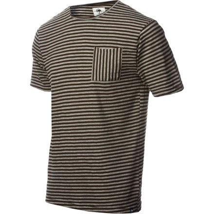 Arbor loaded the Topsail T-Shirt with a pocket, a neck-hole big enough to fit your giant mutant head, and as many stripes as they could cram onto one shirt. Yeah, you get your money's worth. - $21.57