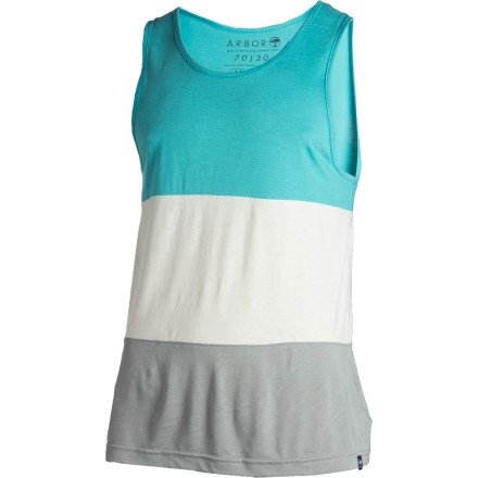 Surf The Arbor Tritone Tank Top, made from organic cotton and viscose from bamboo, is not only a really stylish tank in which to show off your biceps, but it's also good for the environment and stuff. - $16.98