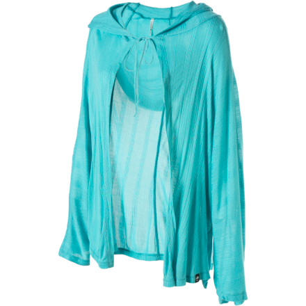 Surf Adding the Arbor Women's Ponchita Long-Sleeve Shirt to a plain old tank-top and shorts combo can take you from looking like you should go back to bed to looking like you should be on a runway. - $17.39