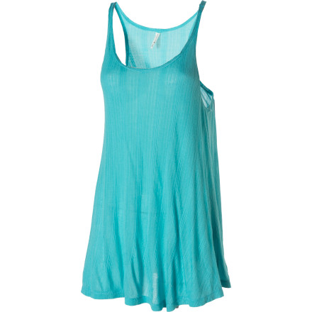Surf The Arbor Women's Flounce Tank Top gives you a relaxed yet polished style. Wear this casual tank by itself for trips to the park, or layer it under a jacket for more dressed-up look. - $25.17