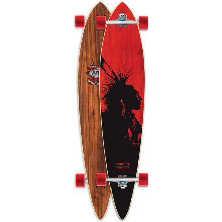 Skateboard Just like the name says, the Arbor Timeless Pin Koa Longboard features a classic pintail shape for buttery-smooth carves across parking lots, city streets, or college campuses. - $170.96
