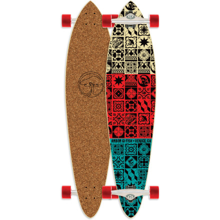 Skateboard The Arbor Fish Cork Longboard is your new best friend for, like, totally heady soul carves, brah. - $152.96