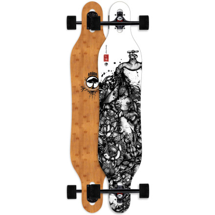 Skateboard The Arbor Axis Bamboo Longboard features a symmetrical shape and snowboard-inspired geometry for a rippable freeride feel that inspires confidence during drifts, carves, and slides. - $179.96