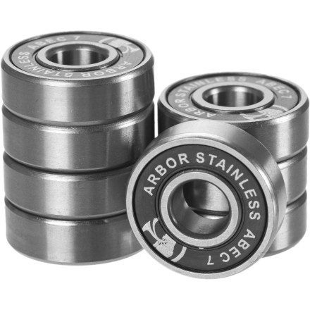 Skateboard Bearings feeling like they're full of sand after leaving your skate outside in the rain Pick up a new set of Arbor ABEC 7 Stainless Steel Bearings and get rolling smooth once again. - $26.96