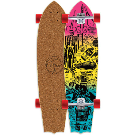 Skateboard Looking for a more comfortable way to cruise barefoot The Arbor Rally Cork Cruiser lets you carve au naturale without ripping your feet to shreds. - $127.96