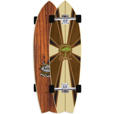 Skateboard The newly redesigned Arbor GB Sizzler Koa Longboard features an elongated tail for even easier maneuvers through traffic, both pedestrian and automotive. Top it off with a short wheelbase and Gullwing Pro III trucks, and you have a quick-turning urban slalom machine you can count on to get you out of sticky situations. - $143.96