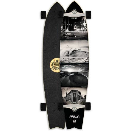 Skateboard Thanks to its unique extended swallowtail shape, the Arbor Mission Longboard blends the best of both worldstight-turning carves and confidence-inspiring stability at speed. - $143.96