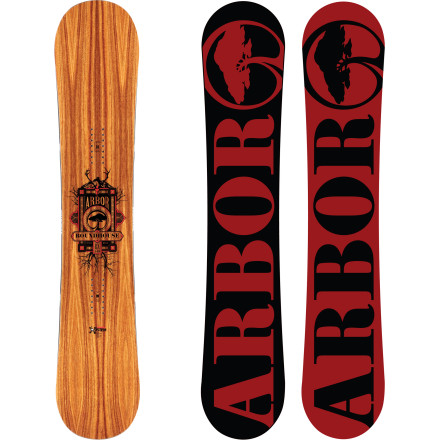 Snowboard Kick the mountain's ass on the Arbor Roundhouse RX Mid-Wide Snowboard. Mountain System rocker with Grip Tech provides crazy float in pow without relinquishing control on hardpack, and Power Ply topsheet packs an extra punch by replacing plastic with wood to boost pop. Of course, you're not going to physically hurt the mountain since Arbor uses sustainably-harvested wood and environmentally conscious materials in their boards to reduce impact on the planet, so don't feel too bad. - $341.97