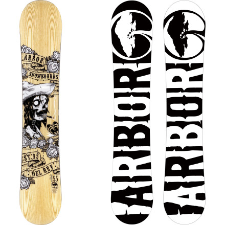Snowboard Looking for a jib board that doesn't ollie like a soggy turd The Arbor Del Rey snowboard offers a rail-ready flex and durable construction, with a traditional camber profile for consistent pop and control unlike you'll get from any rocker design. - $284.96