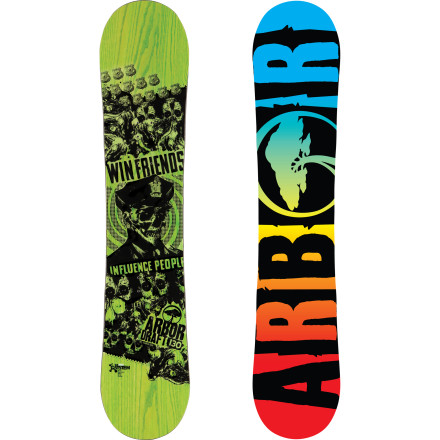 Snowboard The Arbor Draft Mini Snowboard gets your park-shredding kid on the fast track to more fun and a bigger bag of tricks. The little brother of Arbor's award-winning jib board, the Draft Mini still features The System with Grip Tech for jump-line stability, in a true rocker shape for press-ability and hook-free hucking. - $155.97