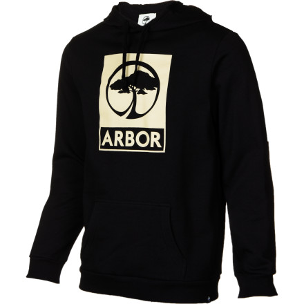 Thrash that mile-long behemoth of a hill while your Arbor Mens Icon Lightweight Hooded Sweatshirt keeps you warm atop your pintail. Arbor gave this pullover hoody a cotton and fleece material that keeps you comfy even if you have to ninja-roll onto Mrs. Birkmans lawn to avoid the certain death of speed-wobbling through a four-way intersection at mach looney. - $59.96