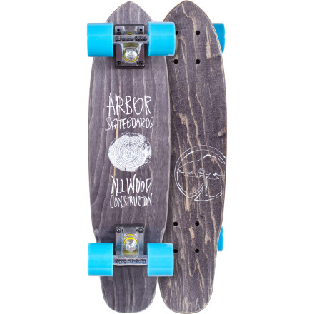 Skateboard Make your routine run to the corner store for beer more fun with the Arbor Woody Cruiser Longboard. It rolls smoothly over cracks in the sidewalk with its soft 59mm wheels, and its compact size won't make it a hassle to carry when you're hauling a thirty-rack out of the gas station. - $79.96