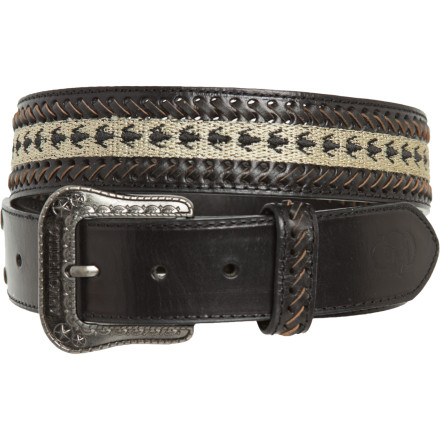 Entertainment If an impossible bank heist finds you scrambling for escape resources, your Armourdillo Duffel Leather Woven Belt can double as a zipline handle. - $24.47