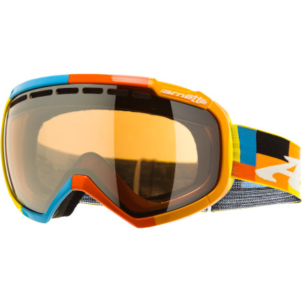 Snowboard The all-new Skylight Goggle offers Arnette's largest field of vision to date. No-BS anti blind-spot technology maximizes your peripheral vision with an oversized lens, low-pro frame design, and semi-flush lens geometry for tons of visibility in every direction. - $71.97