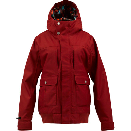 Snowboard Burton got all fancy-like with the insulation in the B by Burton Women's Bennett Jacket, putting a little here and more there, depending on your needs. If only the men in our life could be so attentive, and so reliable in stormy weather. - $161.97