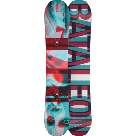 Snowboard Bataleon's Riot Snowboard sports its totally unique Triple Base Technology, a revolution in snowboard profile design. The three-dimensional base incorporates full camber for edge control and pop with upturned edges at the corners for a ride that's forgiving and playful until your lean the board onto its edge contact points. The result is more than just an all-mountain boardit's a board that makes the entire mountain feel weak, ineffectual, and completely emasculated. - $329.97