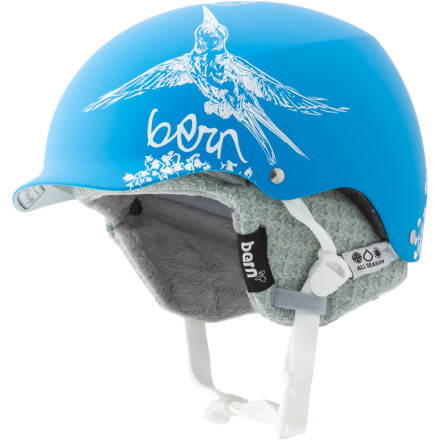 Snowboard Bern designed the Women's Muse EPS Visor Helmet with Knit Liner to give your noggin big protection whether you're dodging trees in the backcountry or dodging cars downtown. Whether you ski, snowboard, skateboard, or bike, this versatile helmet helps keep you safe all year long. - $71.47