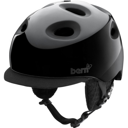 Skateboard The Bern Cougar 2 Women's Helmet has you covered no matter what season it is. Attach the knit liner and close up the vents mid-winter when the snow is piling up, and take the liner out and slide open the vents for a summer skate session. - $104.96