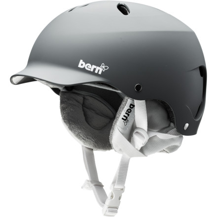 Snowboard The Bern Women's Lenox Helmet is the original vented women's visor helmet. The Lenox features a removable liner that allows you to adapt the helmet to changing weather conditions and vents that keep air flowing through the helmet so you don't overheat. - $59.97