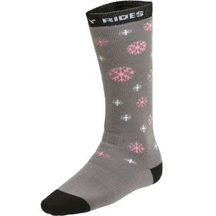 Snowboard Betty Rides, Betty rips, but if there's one thing Betty doesn't do it's have uncomfortable feet. The Snowtrip Socks encase your feet in a combination of wool and acrylic for all day support and comfort. - $12.07