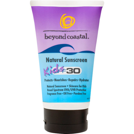 Snowboard Most sunscreens include ingredients that even chemistry teachers cant pronounce. Protect your kids from the sun without exposing them to a mad-scientists chemical soup with Beyond Coastals Natural Kids' Sunscreen SPF 30. This all-natural, water-resistant, broad-spectrum UVA/UVB sunscreen goes on easy and is formulated for children and people with sensitive skin. - $11.95