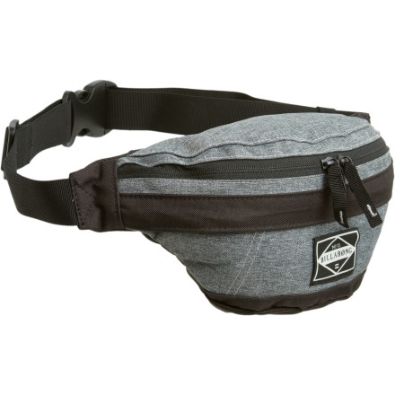 Camp and Hike Use the Billabong Men's Hip Waist Pack when your skinny pant just won't accommodate your fat wallet, cell, and camera. Made with durable eco-polyester fabric, the Hip has a good-sized main compartment and front pocket to keep you organized and ready to snap embarrassing photos of your buddies. - $14.23