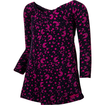 Entertainment Now that leggings are so in, you can wear the Billabong Girls' Benita Dress in chilly temperatures without freezing your little legs off. An empire waist, chest elastic shirring, and front and back ruffles make this dress ideal to wear to your parents' friends' holiday parties. - $11.18