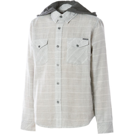 Surf No longer do you have to sport a light hoody under a collared shirt to get the look. Billabong took care of your needs with soft, removable hood attached to the Boys' Monterey Hooded Shirt. - $23.78