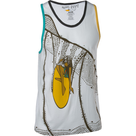 Surf The Billabong Andy Davis Looker Tank Top features an eco-conscious blend of organic cotton and recycled polyester, a soft-hand screen print (ink won't stick to your skin), and the unmistakable artwork of Andy Davis. - $20.97