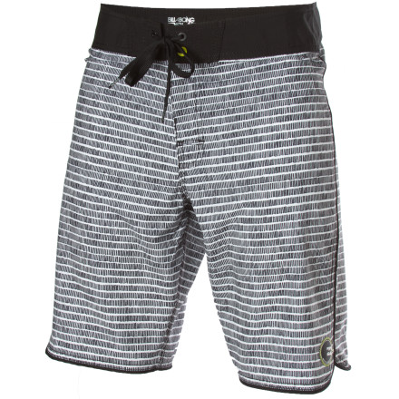 Surf The Billabong Striker Board Short not only sports a wicked tonal stripe pattern, it also features four-way-stretch Platinum X fabric that's just as tech as it sounds. A slightly shorter 20-inch inseam offers a modern look that won't hang up on your kneecaps when you stand up from your paddle. - $32.97